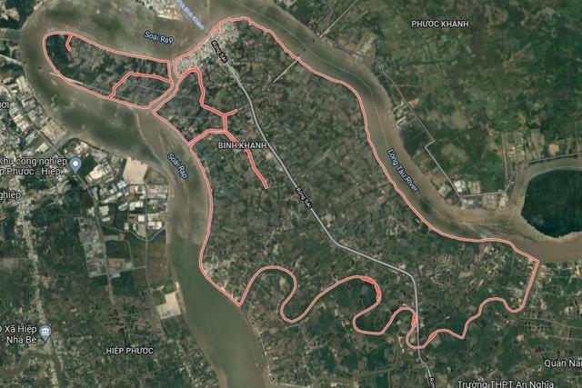 Đất có quy hoạch ở xã Bình Khánh, huyện Cần Giờ